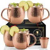 Moscow-Mix Copper Mugs Set of 4