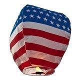 Wishlantern 5 Stars and Stripes Sky Lanterns