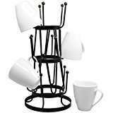 Neat-O Stylish Steel Mug Tree Holder Organizer Rack Stand