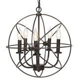 Best Choice Products Industrial Vintage Lighting Ceiling Chandelier, 5 Lights