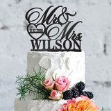 Be Burgundy Personalized Wedding Cake Topper