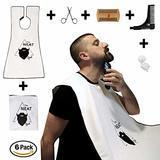 The Neat Guy 6-PACK Beard Kit with Beard Apron/Bib for Mess-Free Shaving