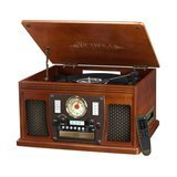 Victrola Nostalgic Aviator Wood 8-in-1 Bluetooth