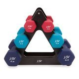 j/fit Dumbbell Set with Durable Rack