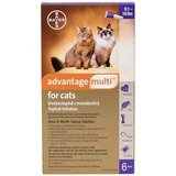 Advantage Multi Topical Solution for Cats, 9.1-18 lbs, 6 treatments