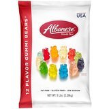Albanese World's Best 12 Flavor Gummi Bears, 5 pounds