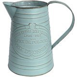"APSOONSELL 7.5"" Shabby Chic Metal Pitcher Vase"
