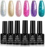 Beetles Boujee Glitter Gel Polish Set, 6-Piece Set