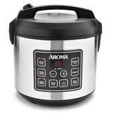 Aroma Housewares 20 Cup Cooked (10 cup uncooked) Digital Rice Cooker, Slow Cooker, and Food Steamer