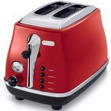 DeLonghi Icona 2-Slice Red Toaster