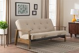 DHP Bergen Wood Arm Futon