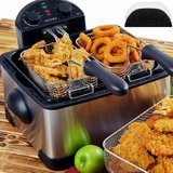 Secura Triple Basket Electric Deep Fryer