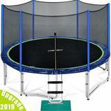 Zupapa 12-Foot, 14-Foot, or 15-Foot TUV Approved Trampoline