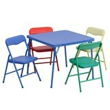 Flash Furniture Colorful Folding Table