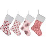 HUAN XUN Burlap Christmas Stockings, Set of 4