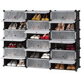 Langria 18-Cube DIY Shoe Rack