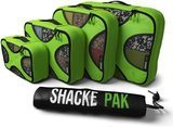 Shacke Pak 4 Set Packing Cubes with Laundry Bag