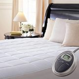 Sunbeam Luxury Quilted Electric Heated Mattress Pad