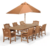 Bristol Outdoor Teak 9-Pc. Dining Set