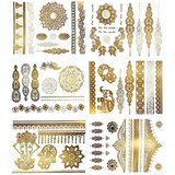 Terra Tattoos Temporary Henna Inspired Metallic Tattoos