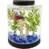 Tetra LED Half Moon Betta Aquarium, 1.1-Gallon