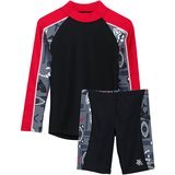 Tuga Boys' Two-Piece Long-Sleeve Swimsuit