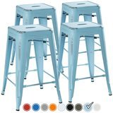 UrbanMod Distressed Pale Blue Rustic Barstools